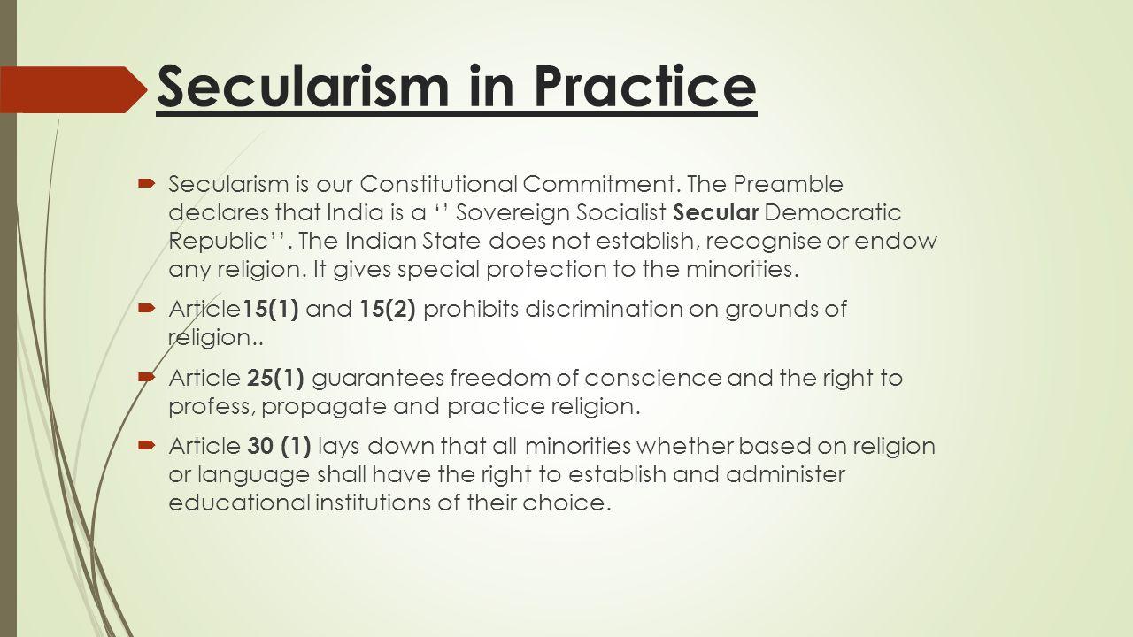 Influence of Secularization  Secularization has not influenced modern society uniformly.