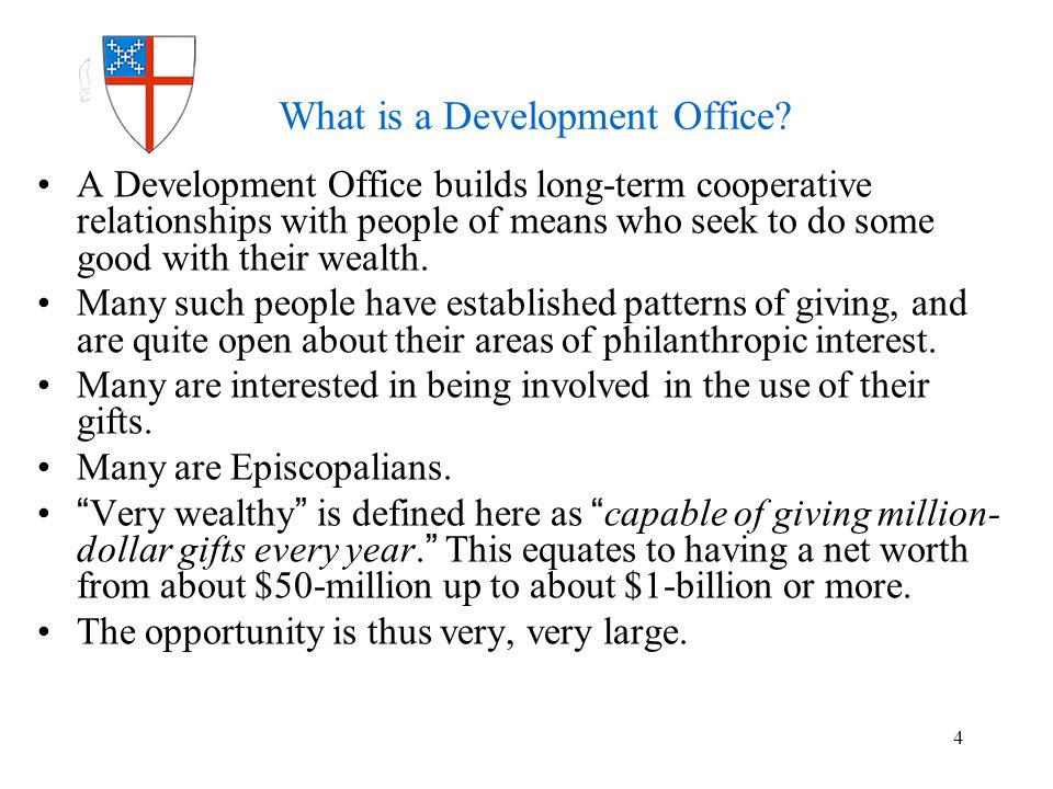 More About the Prospects Typical prospects are experienced givers.