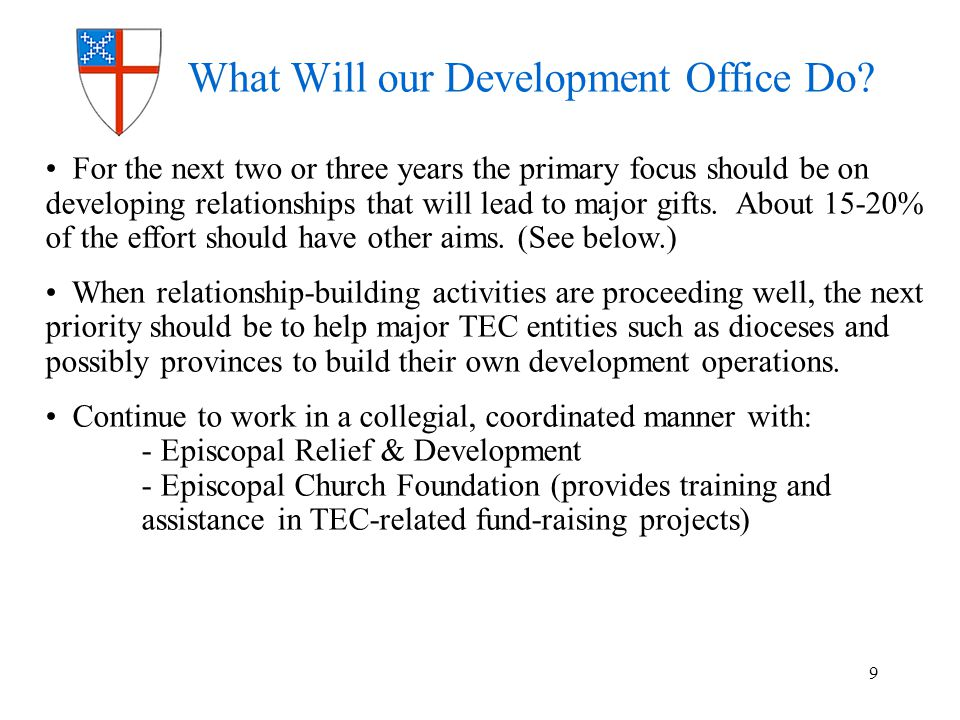 What Will our Development Office Do.