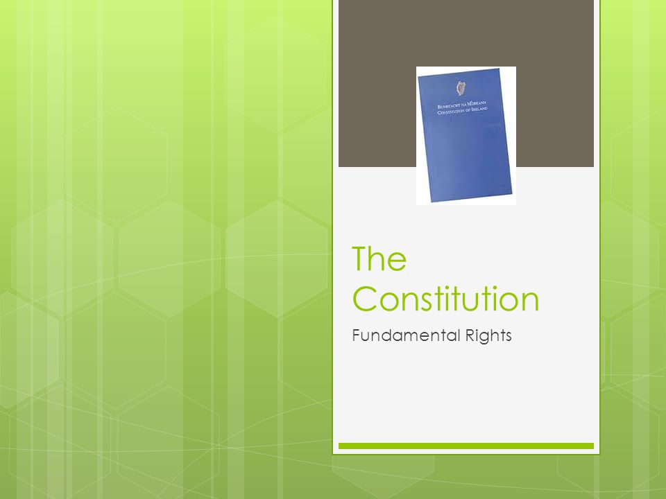 The Constitution Fundamental Rights