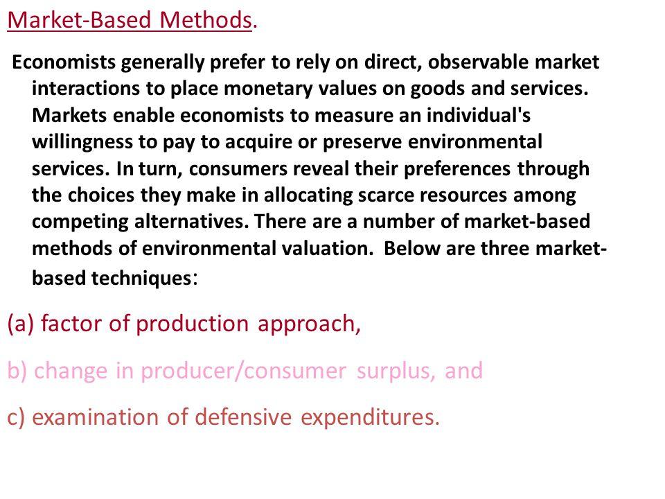 Market-Based Methods.