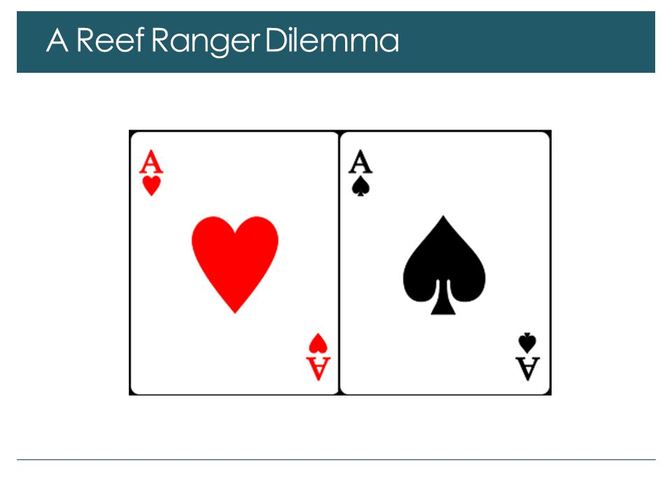 A Reef Ranger Dilemma