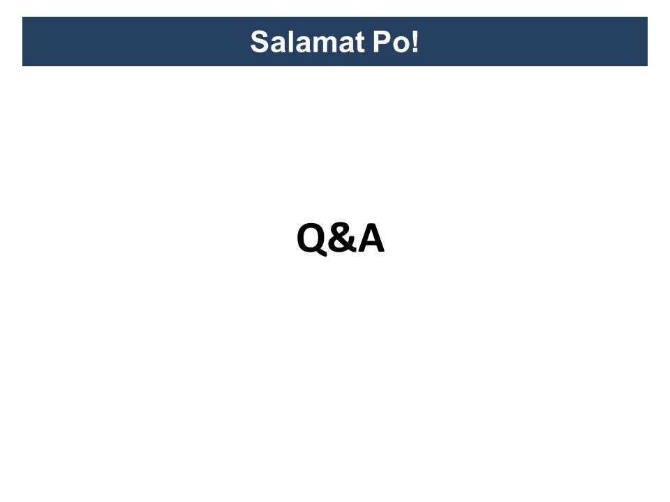 Salamat Po! Q&A