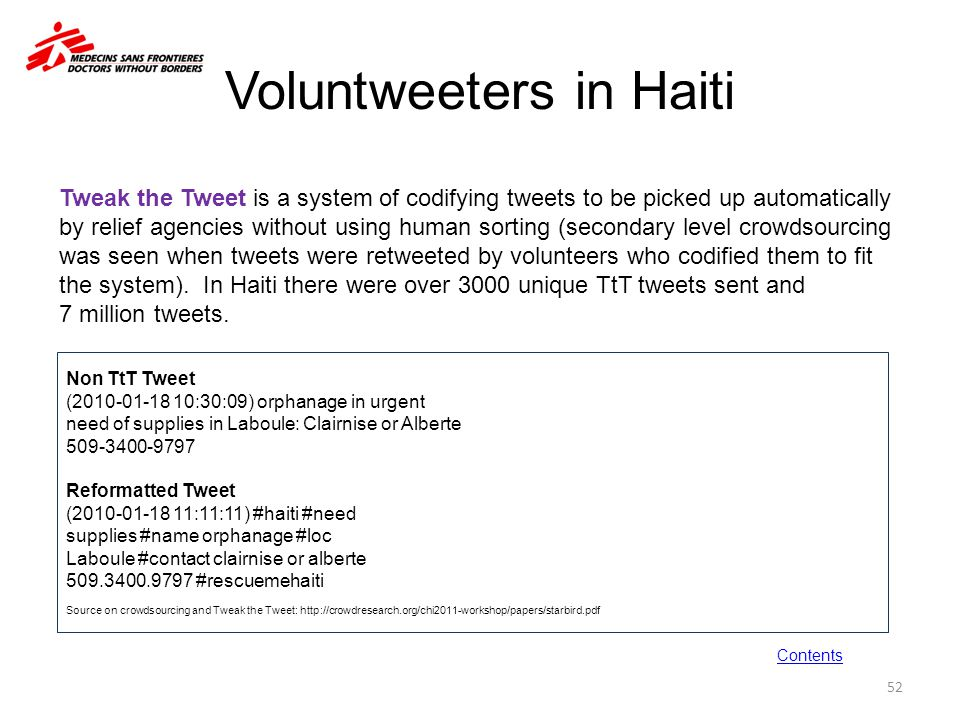Voluntweeters in Haiti Non TtT Tweet (2010-01-18 10:30:09) orphanage in urgent need of supplies in Laboule: Clairnise or Alberte 509-3400-9797 Reforma