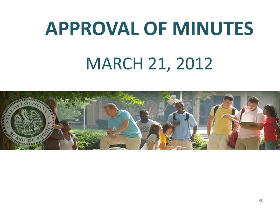 APPROVAL OF MINUTES MARCH 21, 2012 80