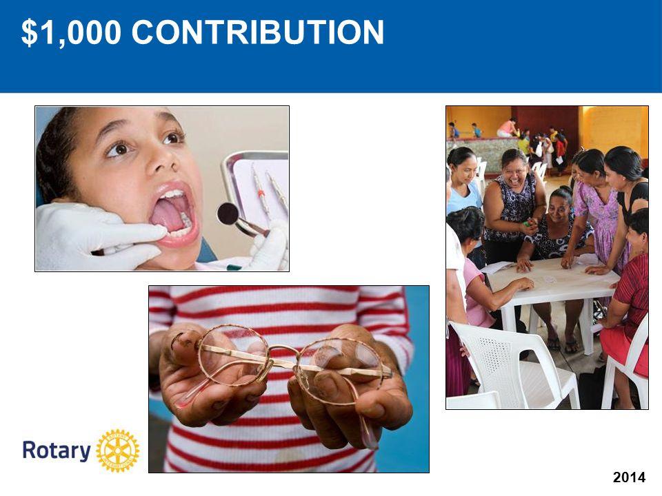 2014 $1,000 CONTRIBUTION