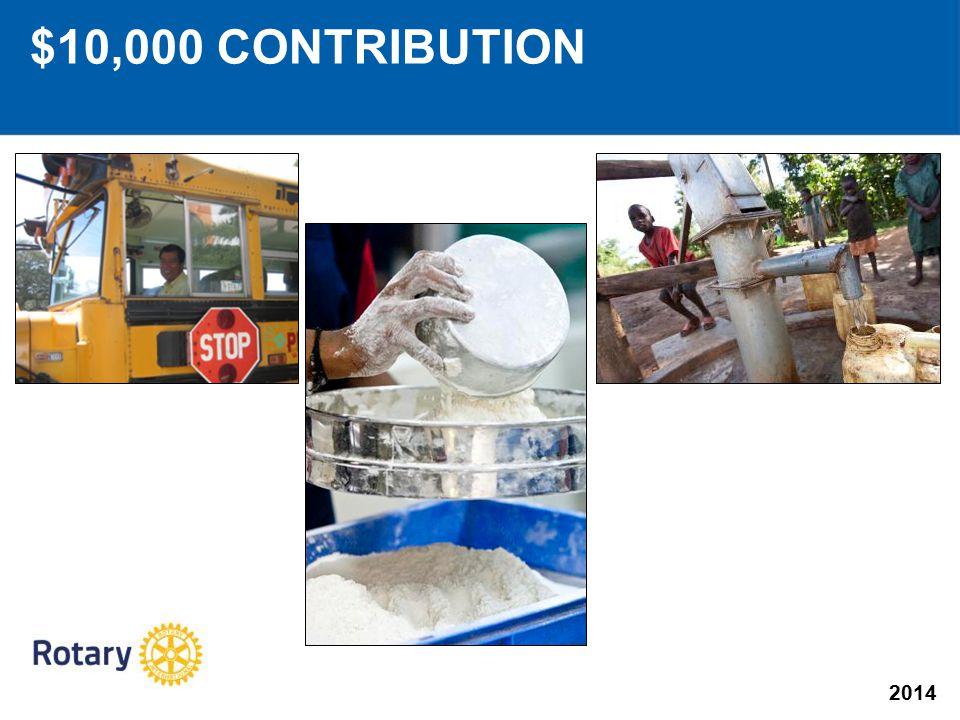 2014 $10,000 CONTRIBUTION