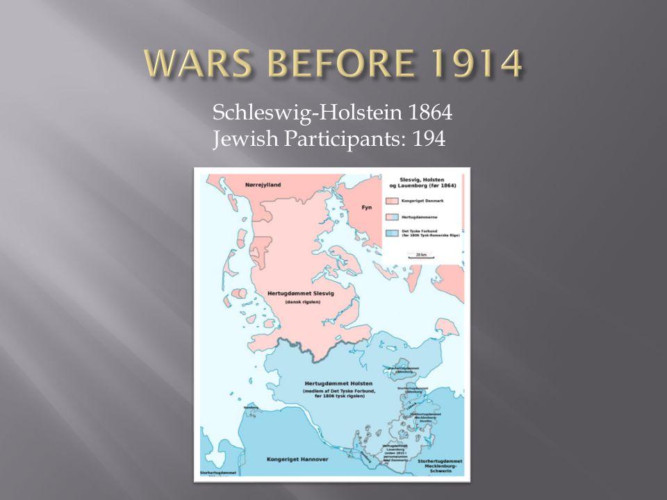 Schleswig-Holstein 1864 Jewish Participants: 194