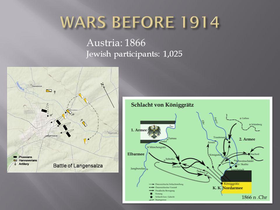 Austria: 1866 Jewish participants: 1,025