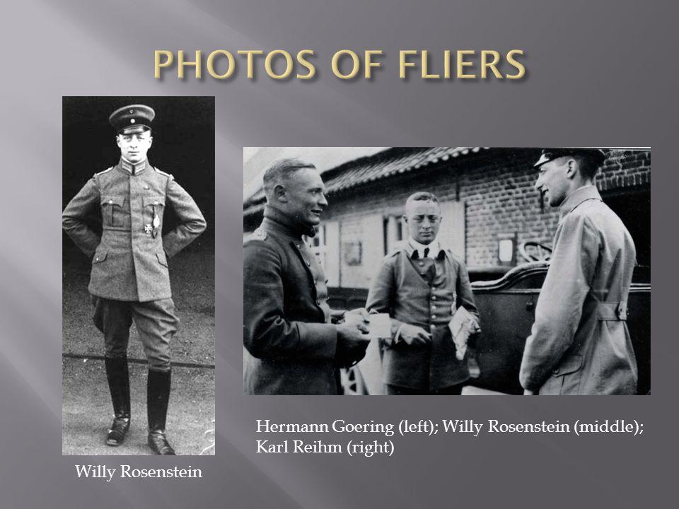 Willy Rosenstein Hermann Goering (left); Willy Rosenstein (middle); Karl Reihm (right)