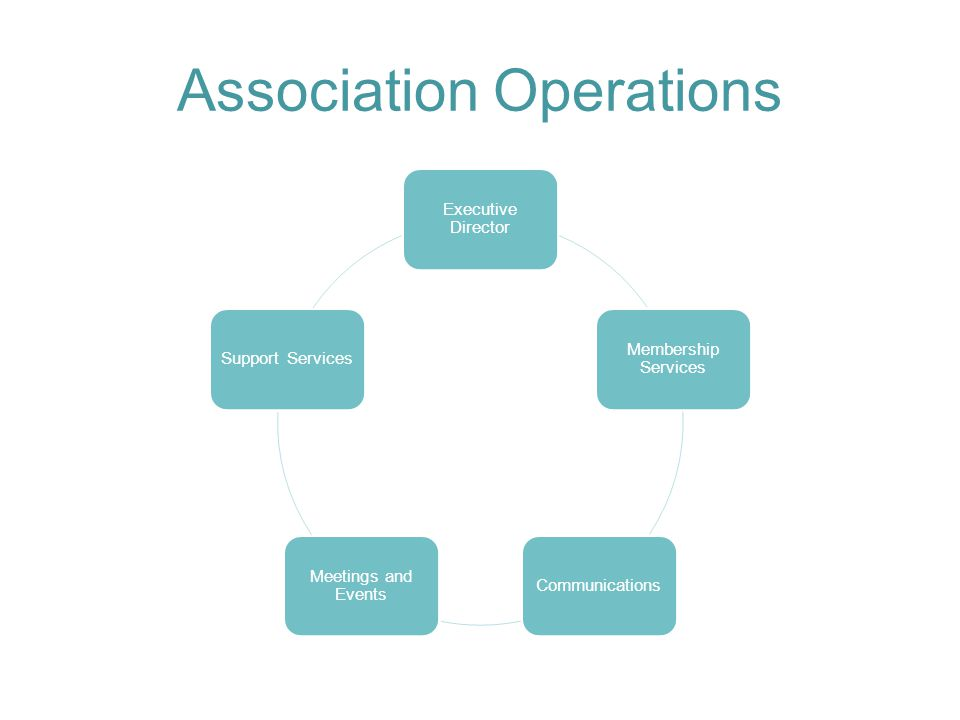 Association Operations Executive Director Membership Services Communications Meetings and Events Support Services