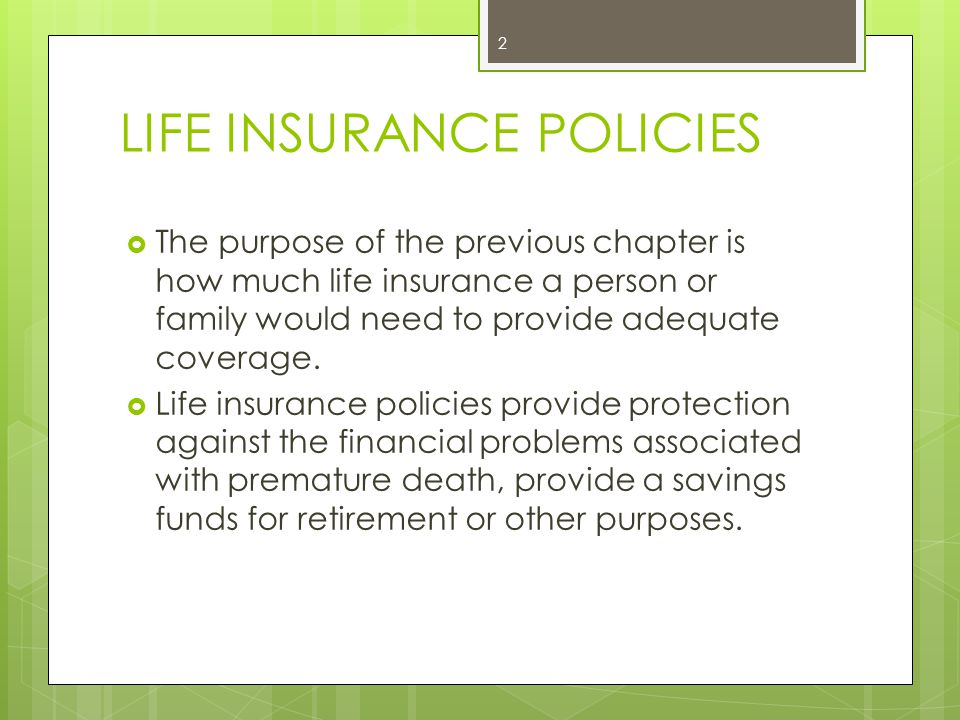 Increasing Term Life Insurance Such policies provide proceeds that increase each year.