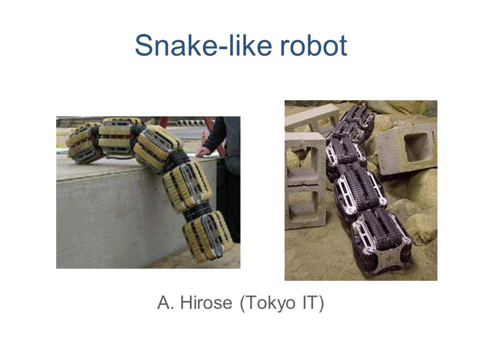 Snake-like robot A. Hirose (Tokyo IT)
