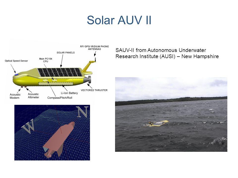 Solar AUV II SAUV-II from Autonomous Underwater Research Institute (AUSI) – New Hampshire