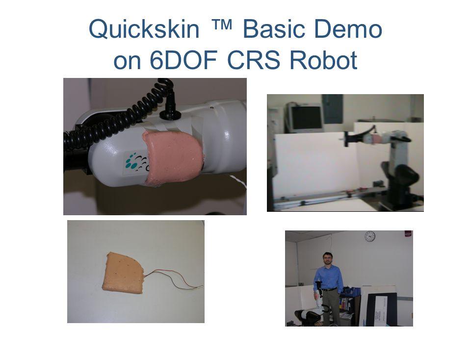 Quickskin ™ Basic Demo on 6DOF CRS Robot