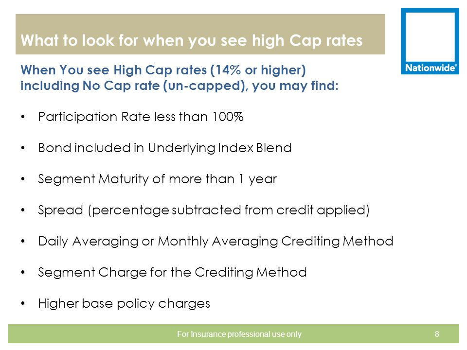 What to look for when you see high Cap rates When You see High Cap rates (14% or higher) including No Cap rate (un-capped), you may find: Participatio