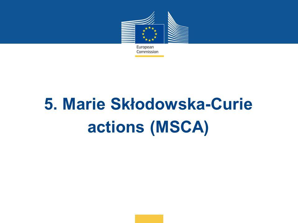 5. Marie Skłodowska-Curie actions (MSCA)