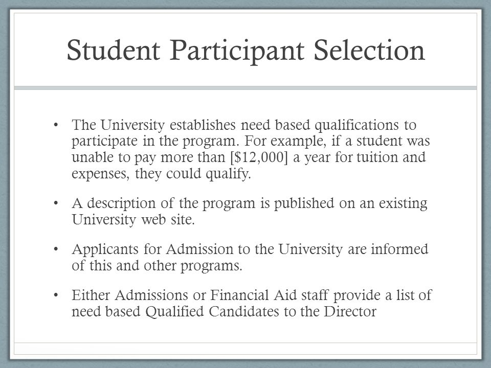 Financial Considerations An additional $350 per student is set aside for field trips and out of pocket expenses (e.g.