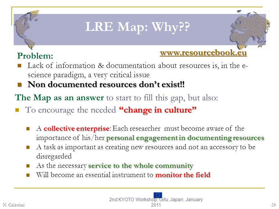 LRE Map: Why?.