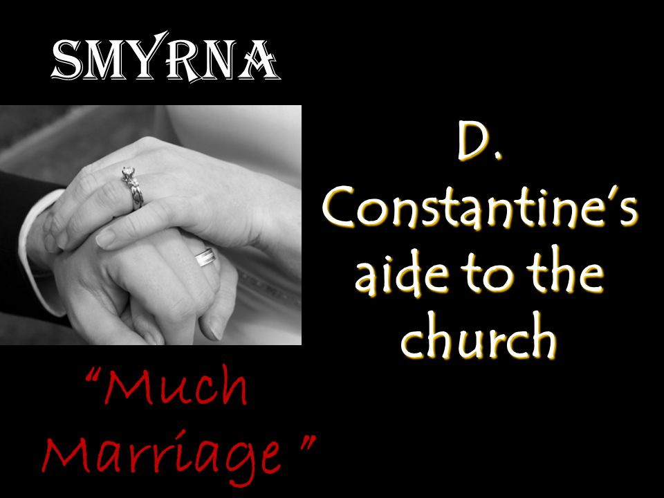 """Smyrna D. Constantine's aide to the church """"Much Marriage """""""