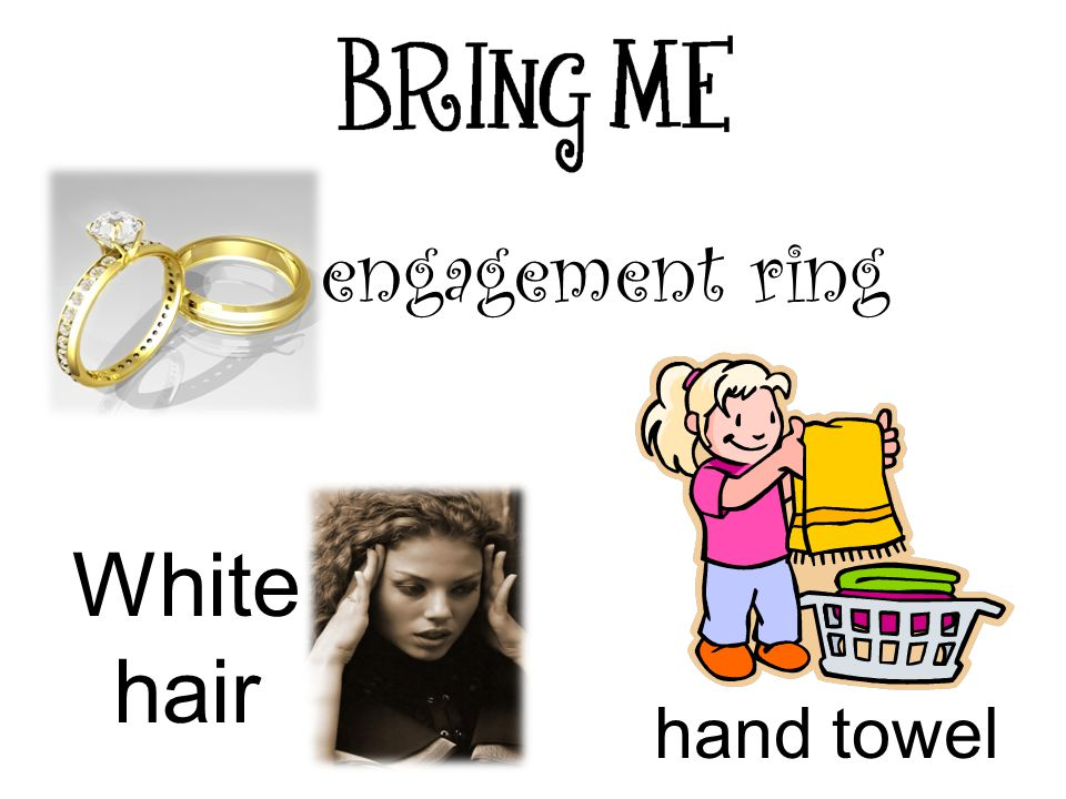 engagement ring hand towel White hair