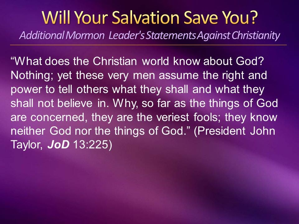 What does the Christian world know about God.