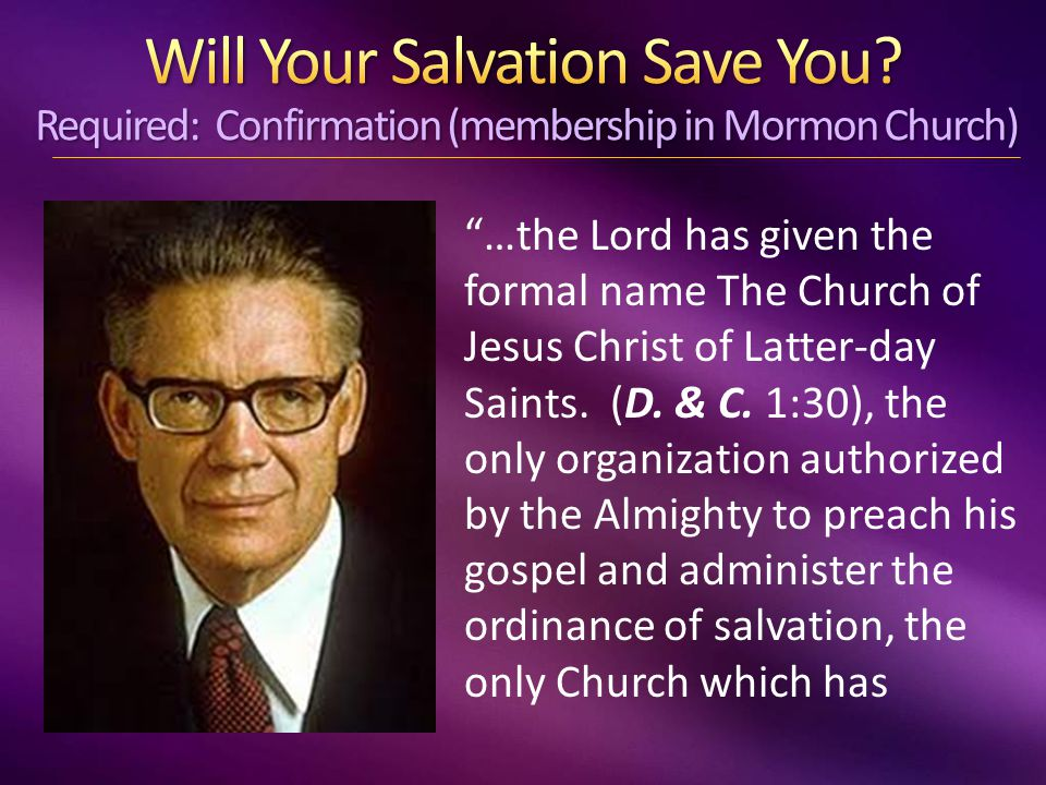…the Lord has given the formal name The Church of Jesus Christ of Latter-day Saints.