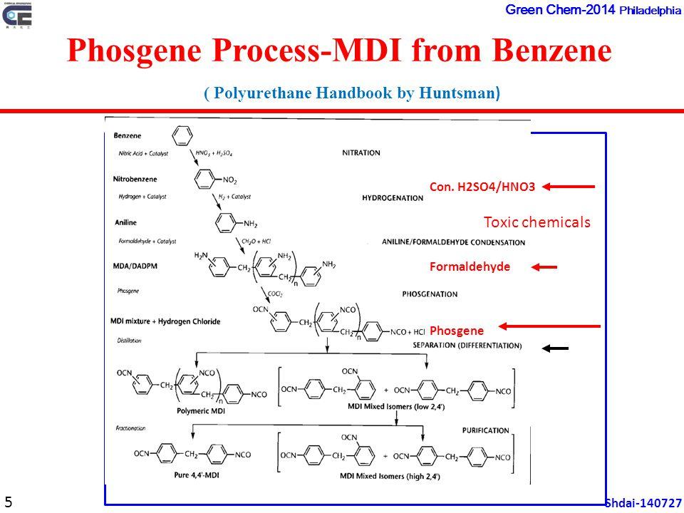 Phosgene Process-MDI from Benzene ( Polyurethane Handbook by Huntsman ) Con.