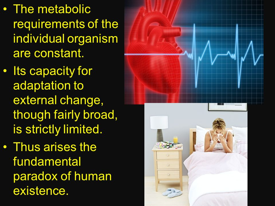 The metabolic requirements of the individual organism are constant.