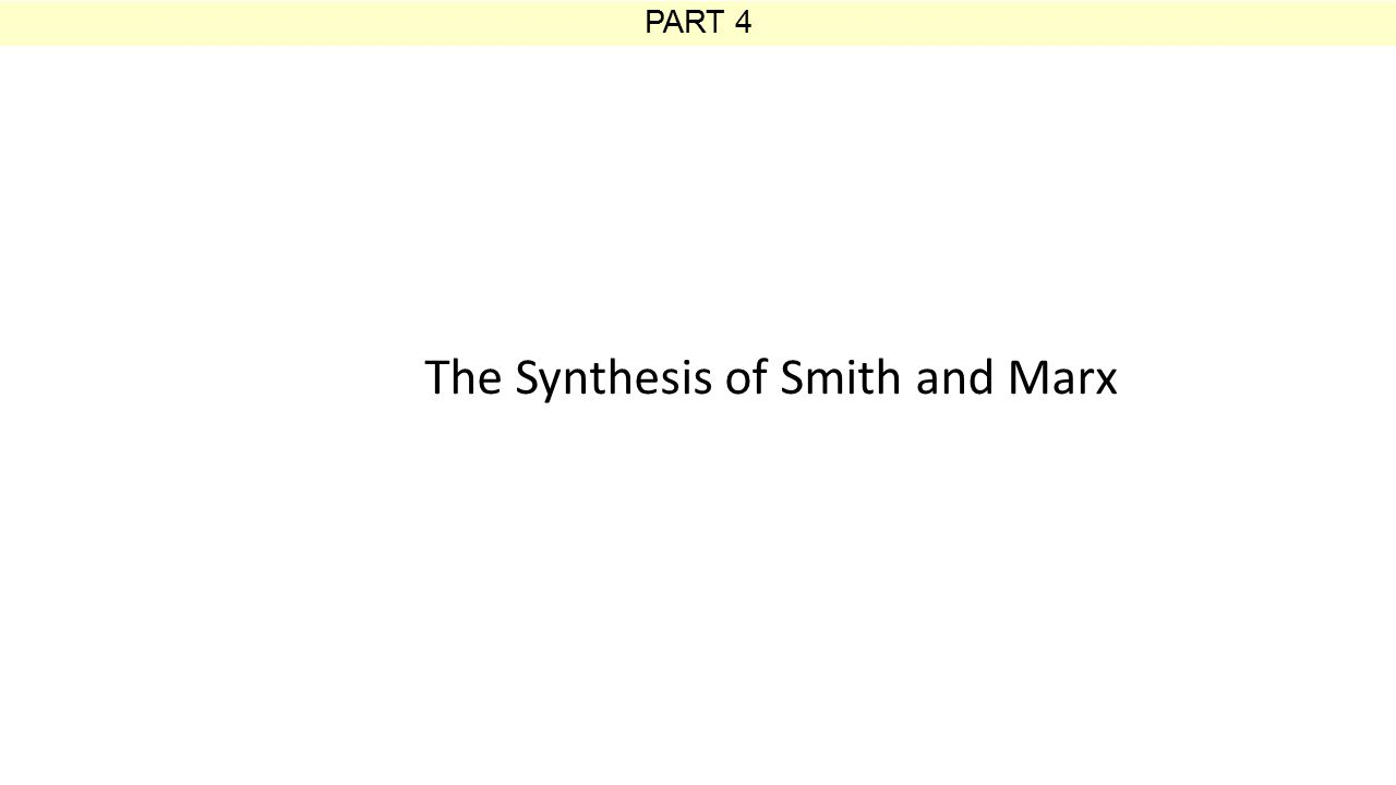 PART 4 The Synthesis of Smith and Marx
