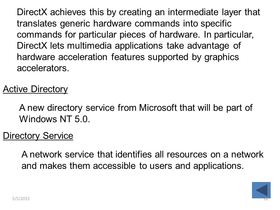 DirectX achieves this by creating an intermediate layer that translates generic hardware commands into specific commands for particular pieces of hard