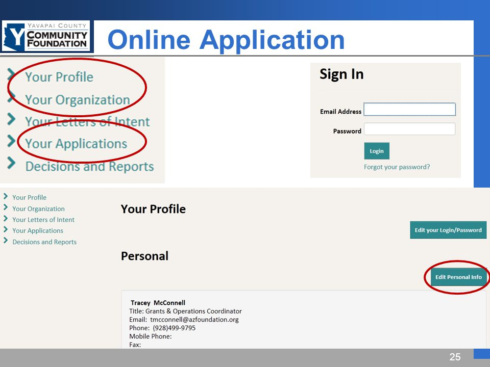 Online Application 25