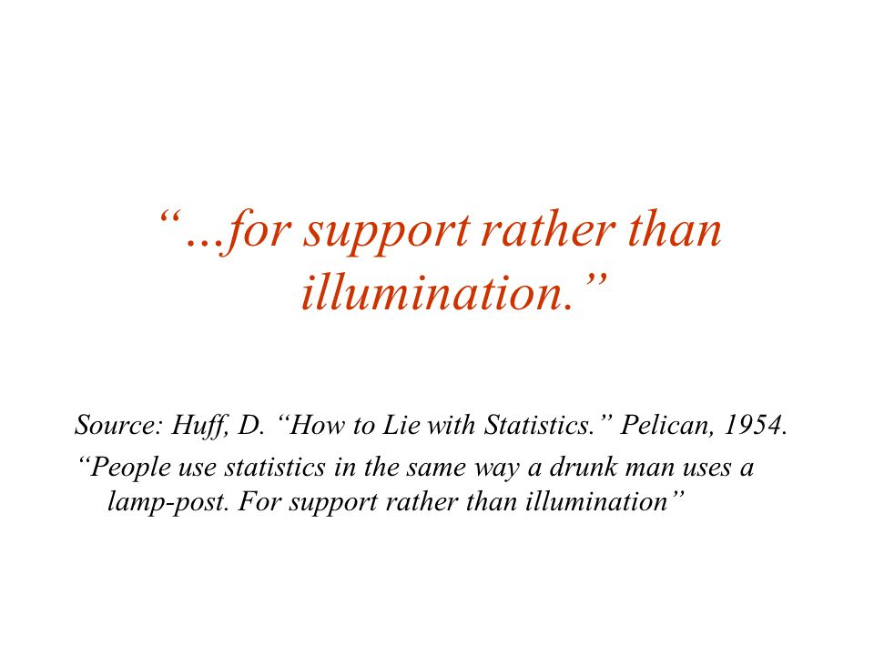 …for support rather than illumination. Source: Huff, D.