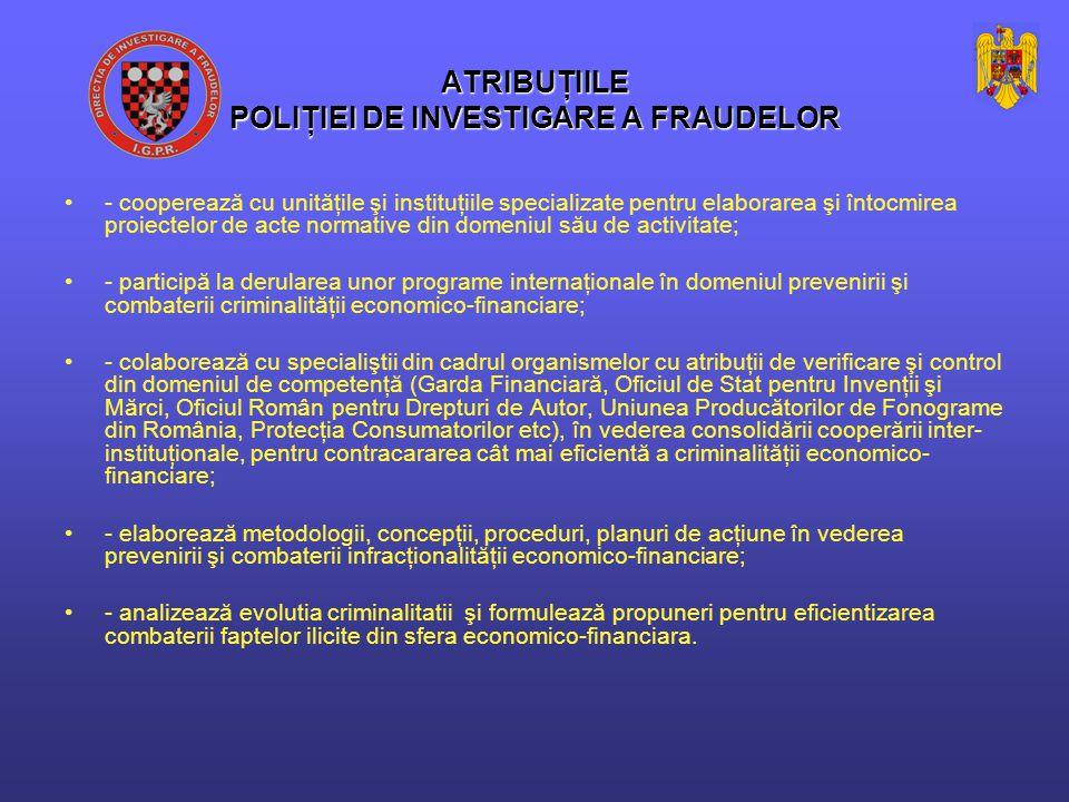 Politia de Investigare a Fraudelor În primele 9 luni ale anului 2012: La nivel national au fost solutionate 80 dosare penale din care: - 37 cu trimitere în judecată - 43 alte soluţii Au fost cercetate 122 persoane care au savarsit 162 infractiuni in domeniul leasingului financiar.
