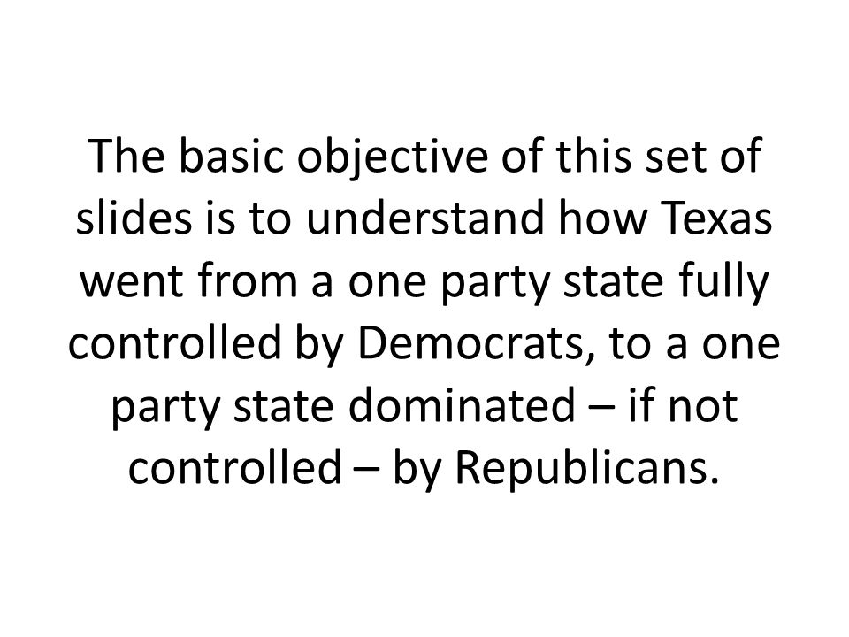 Examples of Texas Democrats who switched parties.