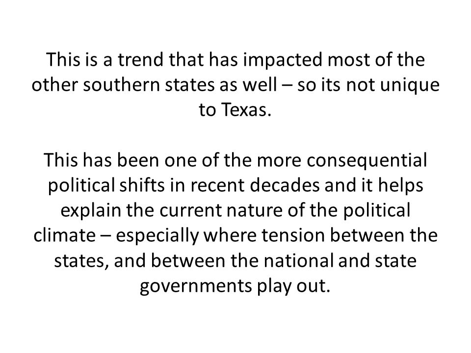 Texas – businesses especially – benefited heavily from the situation.