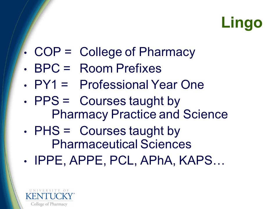 Goal of the Patient Care Laboratory By the end of the 6-course laboratory sequence, you will have the skills and knowledge to provide patient-centered care in a manner consistent with the Department of Pharmacy Practice and Science's Philosophy of Practice