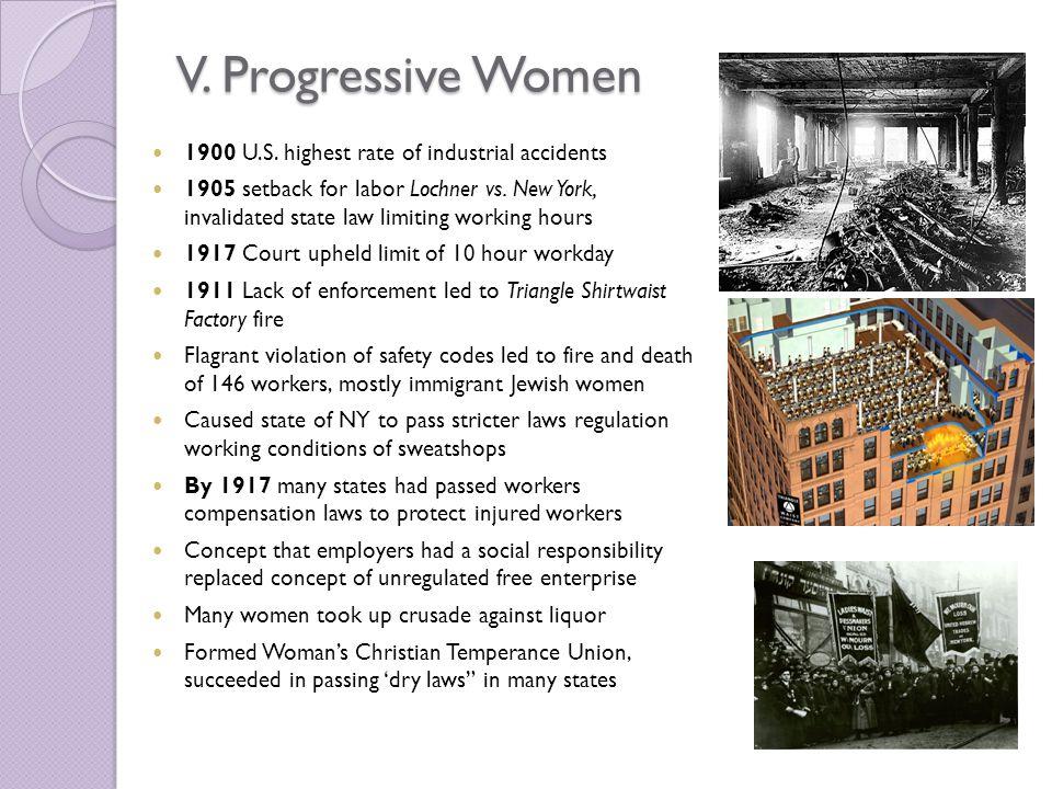 V. Progressive Women 1900 U.S.