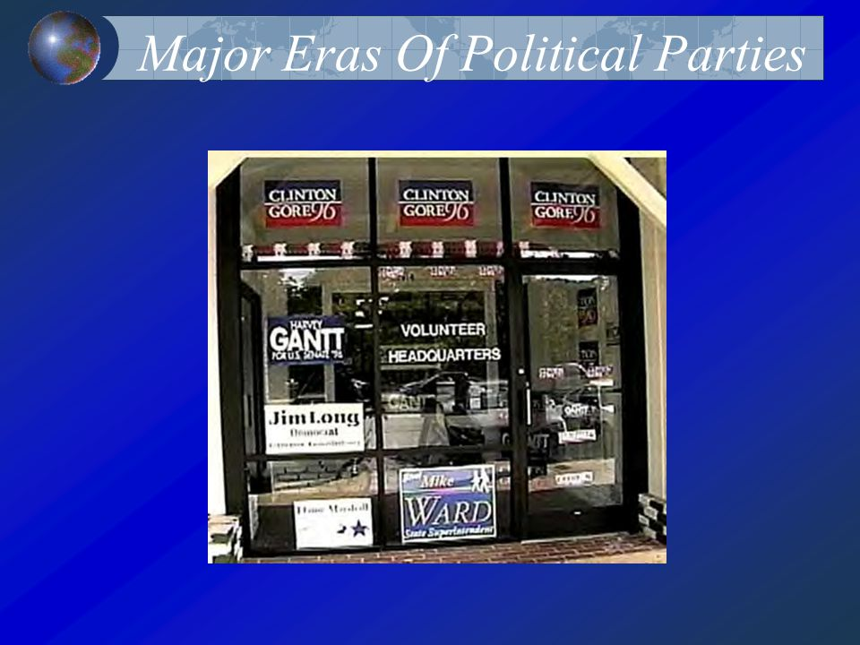Major Eras Of Political Parties
