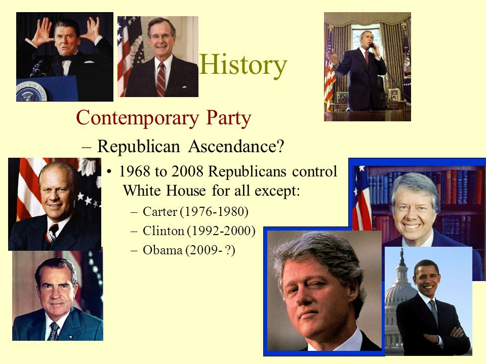 History Contemporary Party –Republican Ascendance.