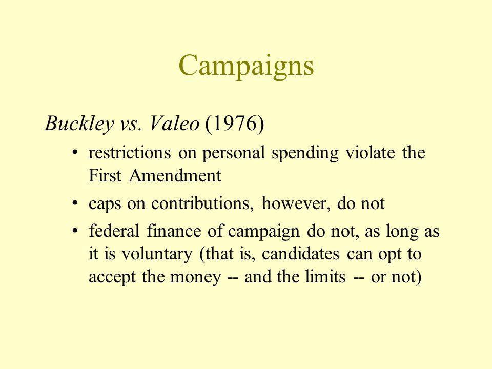Campaigns Buckley vs.