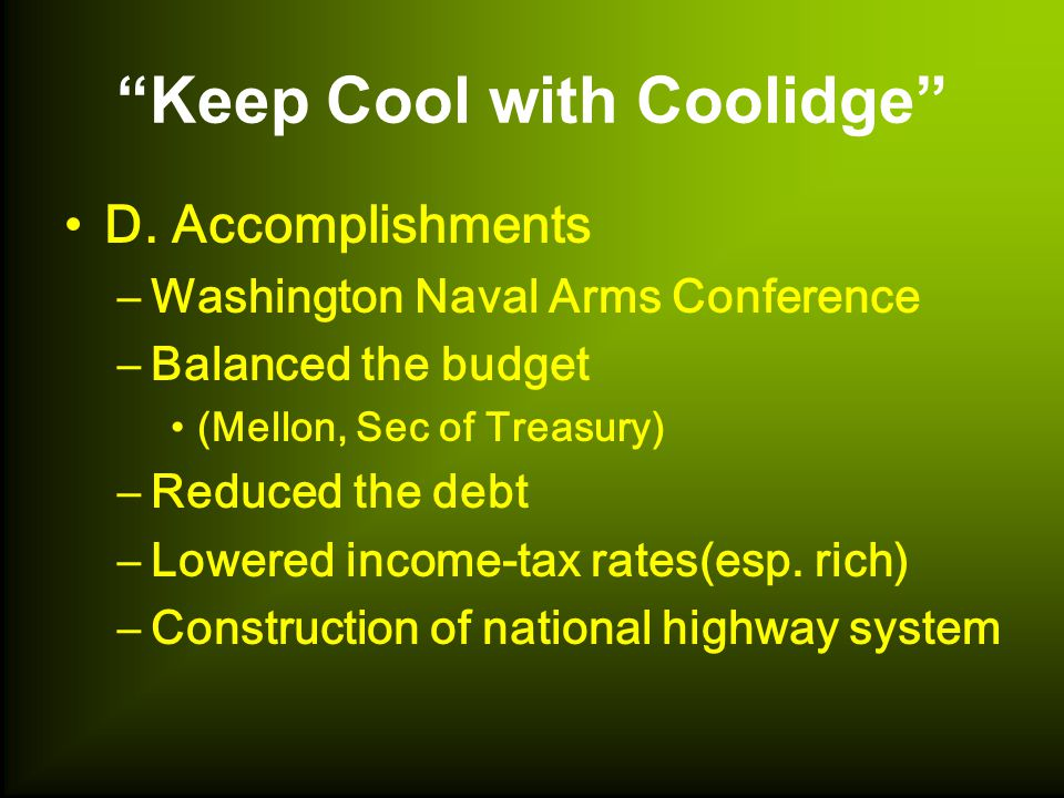 Keep Cool with Coolidge D.