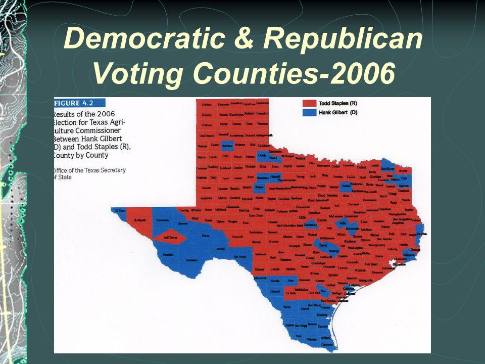 Democratic & Republican Voting Counties-2002