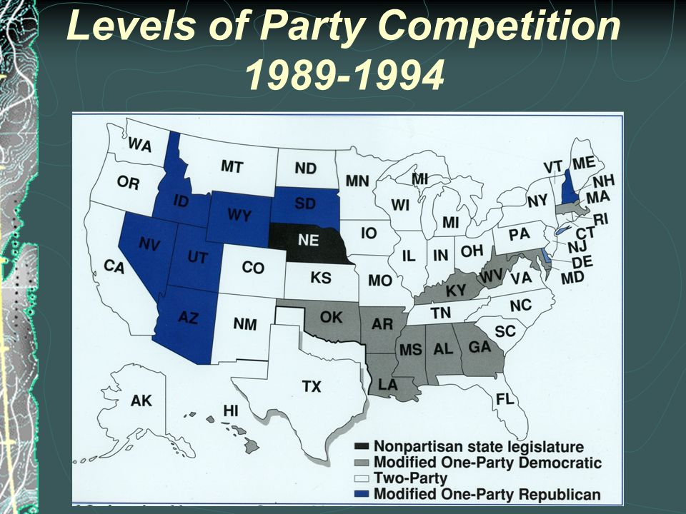 Levels of Party Competition- 1961-1984
