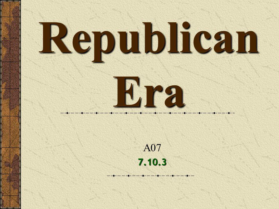 Republican Era A077.10.3
