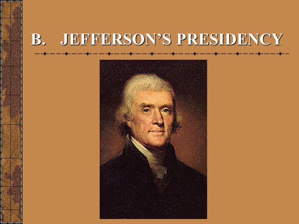 B.JEFFERSON'S PRESIDENCY
