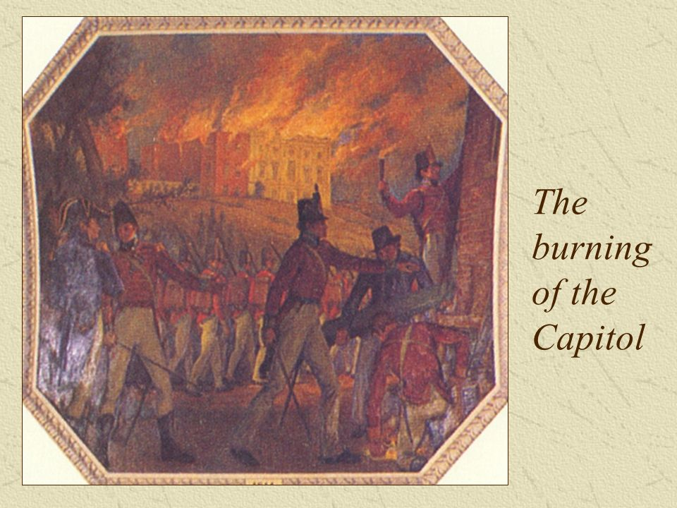 The burning of the Capitol