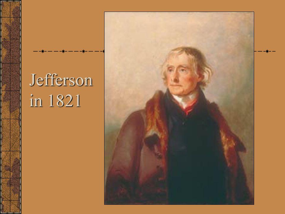 Jefferson in 1821