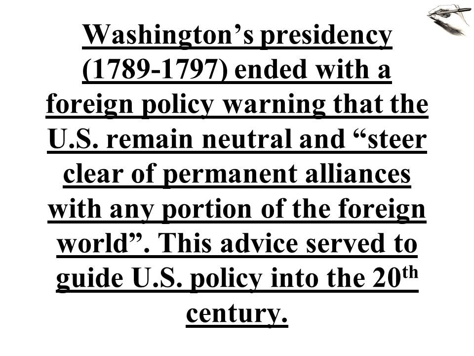 Despite Washington's admonitions to the contrary, the political differences between Jefferson/Madison, and Hamilton led to the formation of political parties.