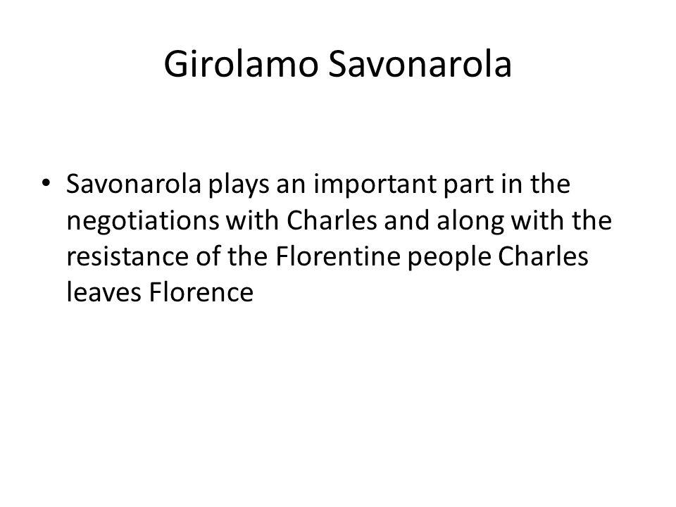 Savonarola's execution in the Piazza della Signoria